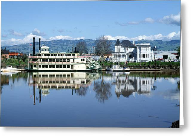 3b6380 Petaluma Queen Riverboat Greeting Card