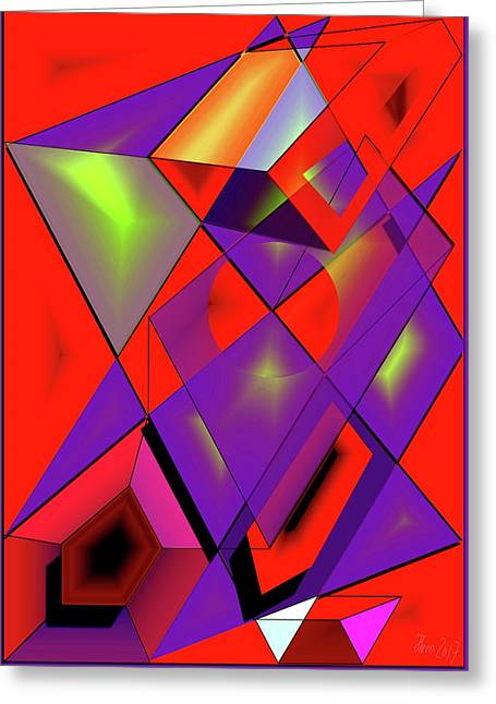 3d-cubes Greeting Card by Helmut Rottler