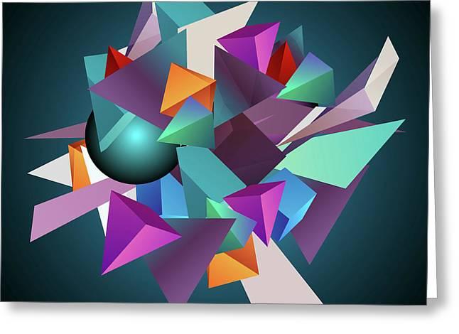 3d Geometric  Greeting Card