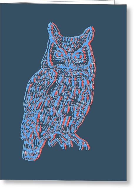 3d Owl Greeting Card