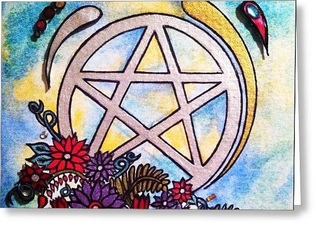 3d Pentacle Image Greeting Card