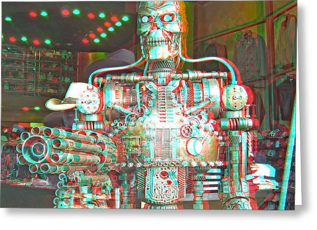 3d Robot Greeting Card