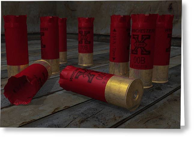 David Frantz Greeting Cards - 3d Shotgun Greeting Card by David Frantz