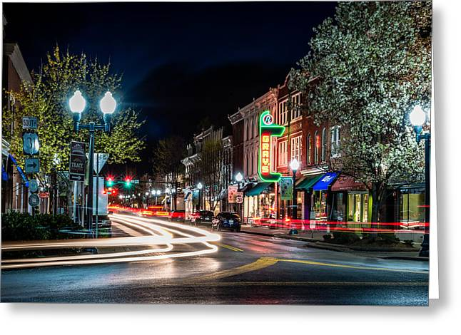Franklin, Tennessee - 3rd And Main Greeting Card by David Tutterrow