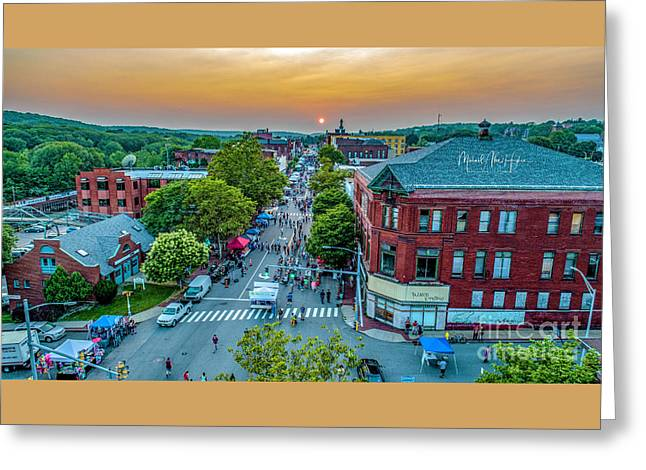 Greeting Card featuring the photograph 3rd Thursday Sunset by Michael Hughes