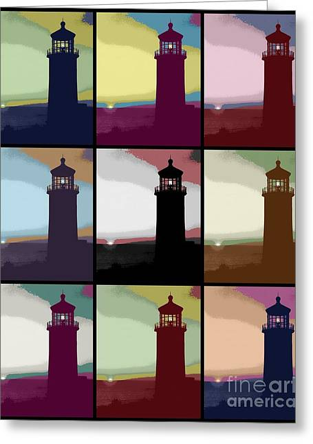 3x3 Lighthouse Greeting Card by RJ Aguilar