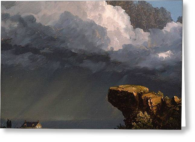 A Passing Storm  Greeting Card by Frederic Edwin