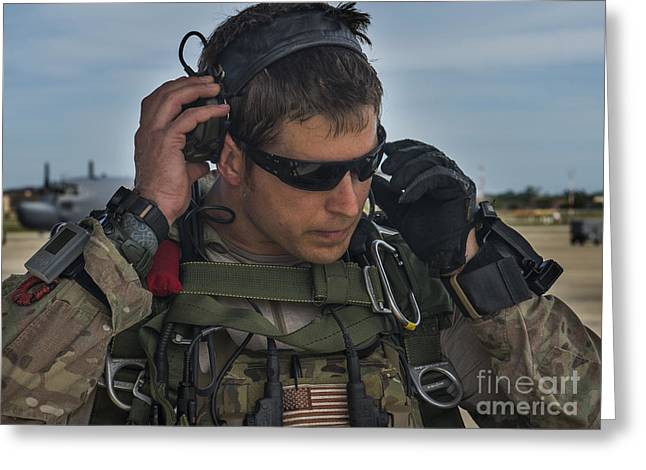 A U.s. Air Force Combat Controller Greeting Card by Stocktrek Images