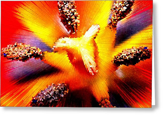 Abstract Flower Macro Greeting Card by Bruce Nutting
