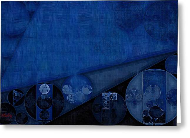 Abstract Painting - Dark Cerulean Greeting Card
