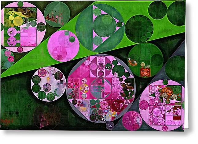 Abstract Painting - Dark Jungle Green Greeting Card by Vitaliy Gladkiy