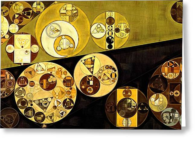 Abstract Painting - Golden Sand Greeting Card by Vitaliy Gladkiy