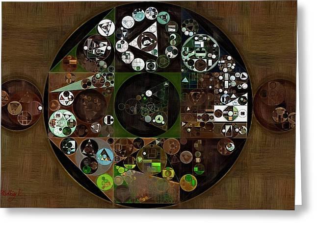 Abstract Painting - Zinnwaldite Brown Greeting Card