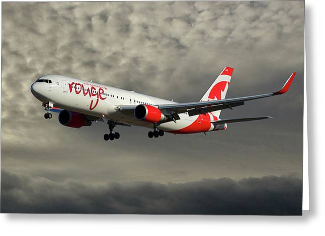 Air Canada Rouge Boeing 767-333 116 Greeting Card