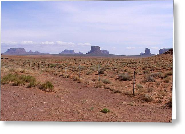 America - The Iconic Monument Valley Greeting Card by Jeffrey Shaw