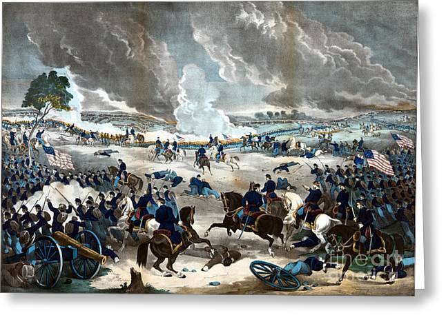 American Civil War, Battle Greeting Card by Science Source