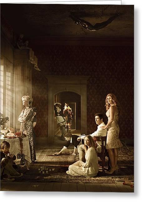 American Horror Story 2011 Greeting Card by Caio Caldas