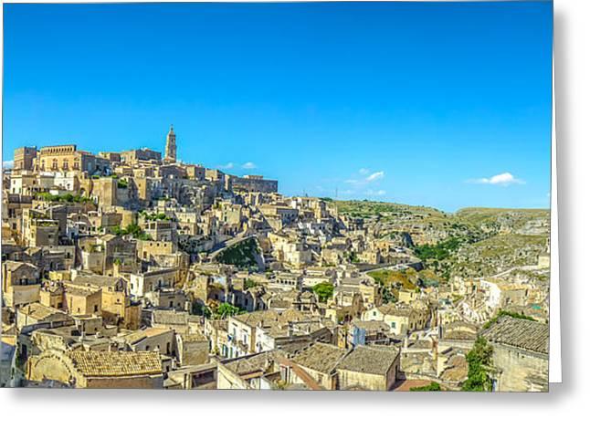 Ancient Town Of Matera, Basilicata, Italy Greeting Card by JR Photography