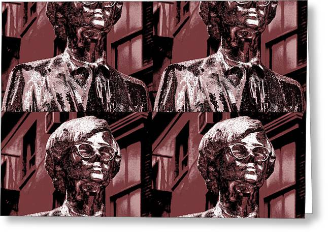 Andy Warhol Statue Union Square Nyc  Greeting Card by Robert Ullmann