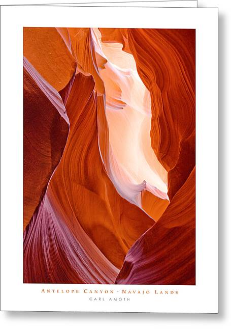 Antelope Canyon Greeting Card by Carl Amoth