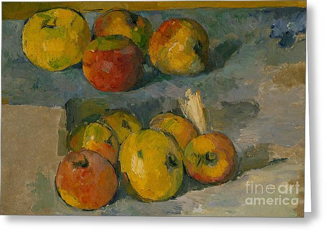 Apples Greeting Card by Paul Cezanne