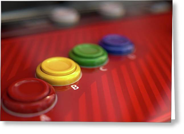 Arcade Control Panel  Greeting Card by Allan Swart