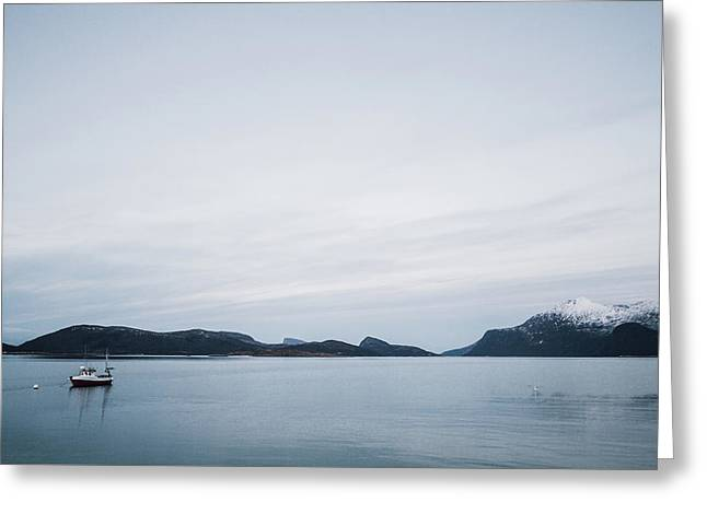 Arctic Landscape In Northern Norway, Tromso Region Greeting Card