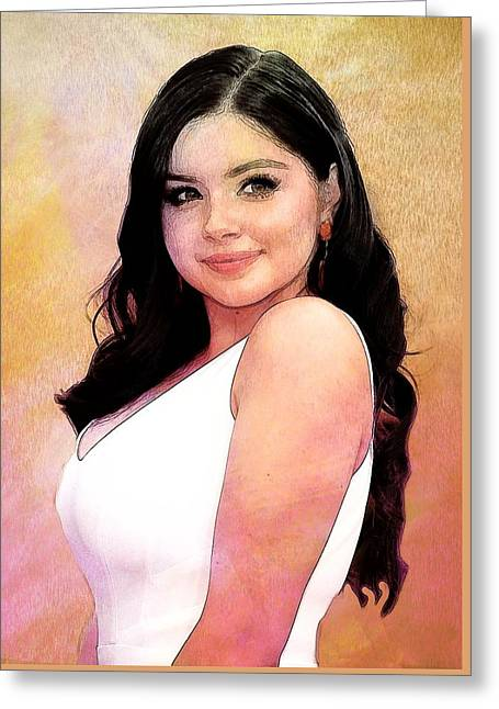 Ariel Winter Poster Greeting Card