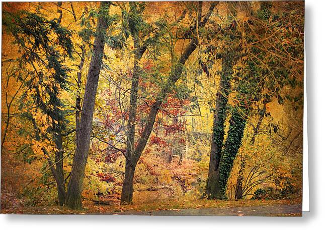 Autumn Canvas Greeting Card by Jessica Jenney