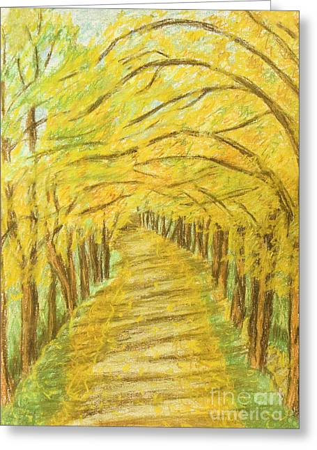 Autumn Landscape, Painting Greeting Card