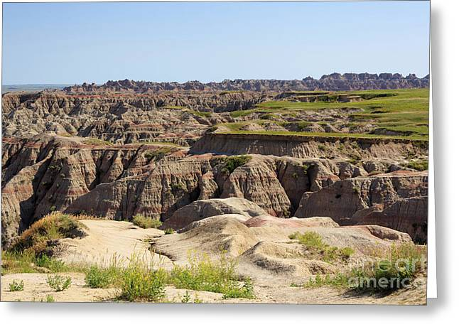 Badlands National Park South Dakota Greeting Card by Louise Heusinkveld