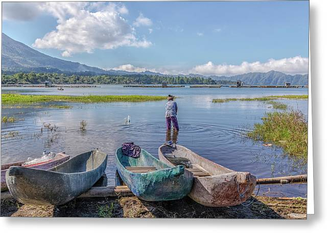Batur - Bali Greeting Card by Joana Kruse