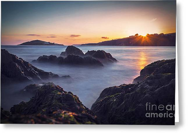 Beach Bantham Greeting Card by Sebastien Coell