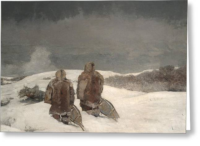 Below Zero  Greeting Card by Winslow Homer