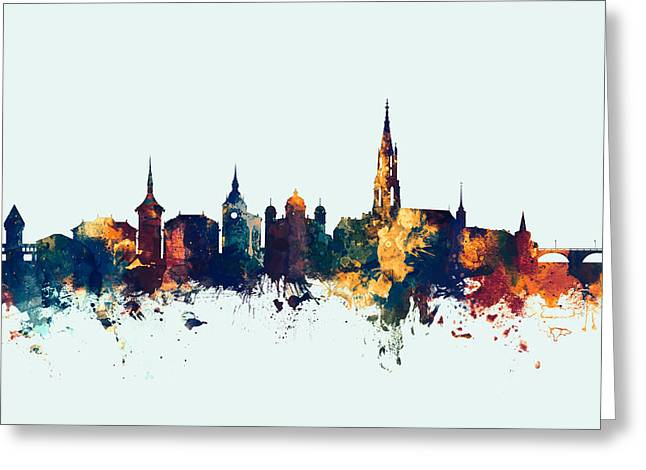 Bern Switzerland Skyline Greeting Card by Michael Tompsett