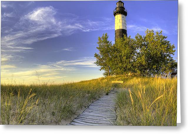 Big Sable Lighthouse Greeting Card by Twenty Two North Photography