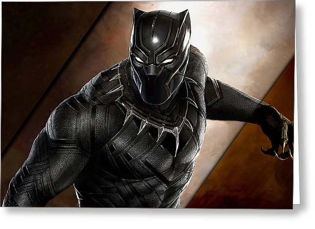 Black Panther Collection Greeting Card