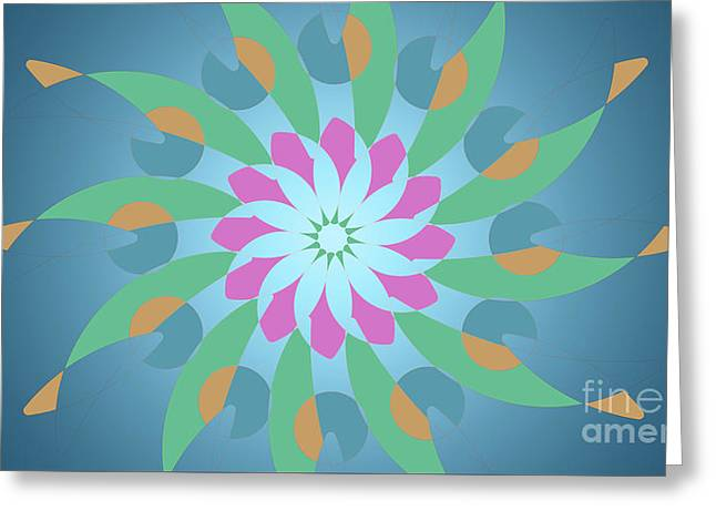 Blue Abstract Star For Home Decoration Greeting Card by Pablo Franchi