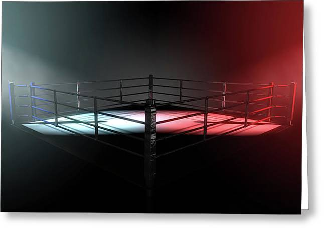 Boxing Ring Opposing Corners Greeting Card