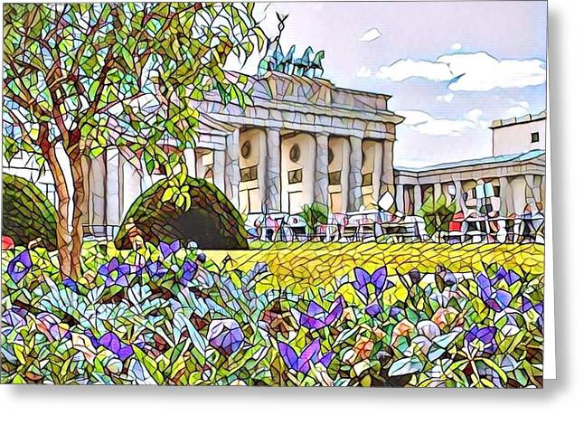Brandenburg Gate Deutchland Greeting Card by GabyDuval Image and Design