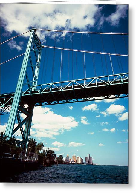 Bridge Across A River, Ambassador Greeting Card by Panoramic Images