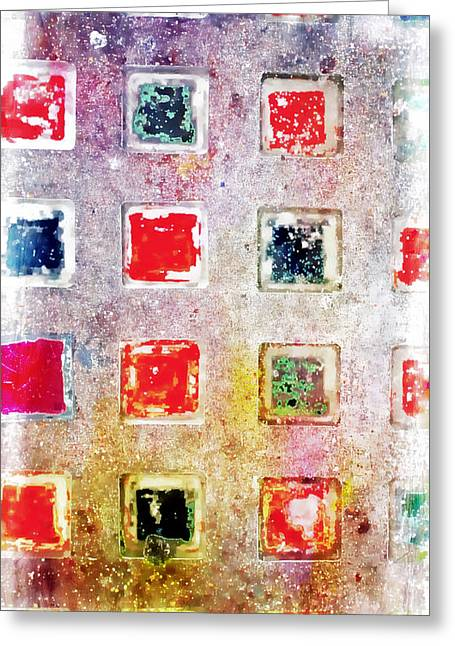 Bright Grunge Abstract Greeting Card