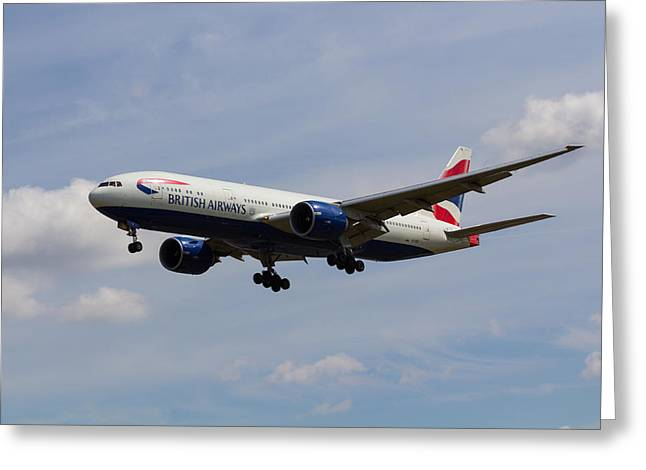 British Airways Boeing 777 Greeting Card