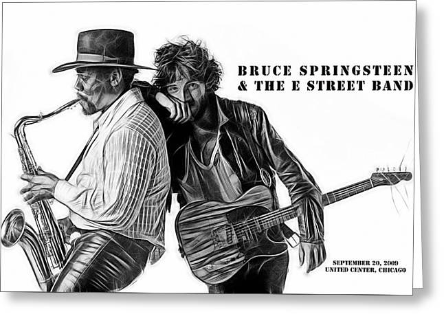 Bruce Springsteen Clarence Clemons Collection  Greeting Card by Marvin Blaine