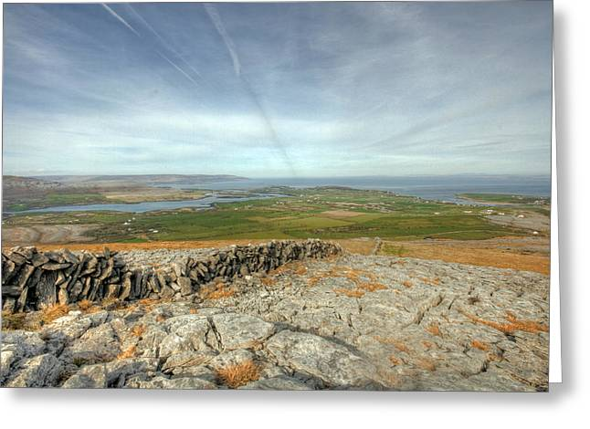 Burren View  Greeting Card by John Quinn