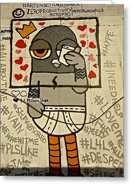 Bushwick Brooklyn Graffitti Greeting Card
