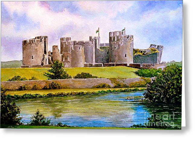 Caerphilly Castle Greeting Card