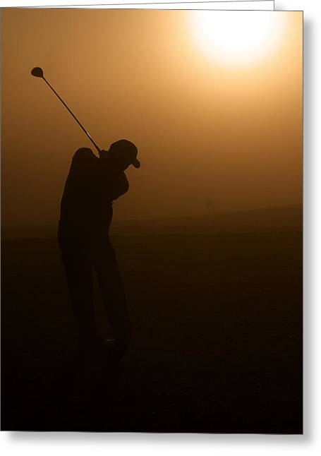 Elite Image Photography By Chad Mcdermott Greeting Cards - California Golf Course Sunrise Morning Golfers Greeting Card by ELITE IMAGE photography By Chad McDermott