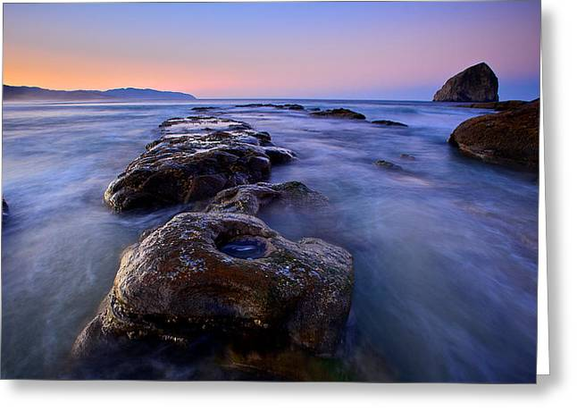 Greeting Card featuring the photograph Cape Kiwanda by Evgeny Vasenev