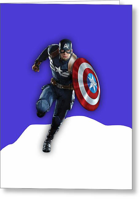 Captain America Collection Greeting Card